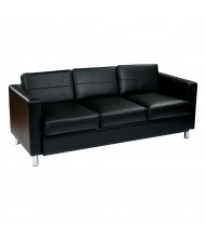 Office Star Work Smart Pacific PAC53 Vinyl Low-Back Sofa ( Shown in Black)