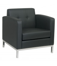 Office Star Work Smart Wall Street WST51A Faux Leather Low-Back Club Chair (Shown in Black)