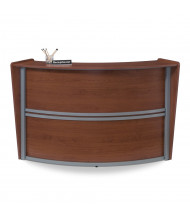 "OFM Marque 55290 69.5"" W Curved Reception Desk (Shown in Cherry)"