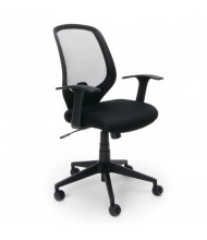 OFM Essentials E1000 Mesh-Back Fabric Mid-Back Task Chair