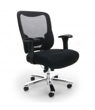 OFM Essentials ESS-200 Big & Tall 400 lb. Mesh-Back Fabric Mid-Back Task Chair