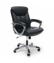 OFM Essentials ESS-6020 Leather Mid-Back Conference Chair (Shown in Black / Silver)