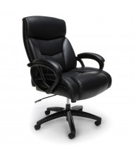 OFM Essentials ESS-6040 Big & Tall 350 lb. Leather Mid-Back Executive Office Chair