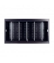 "Tecno OP112 Optical 60"" W Wall Shadow Box Wall Display Case 10"" D x 33"" H (in black)"