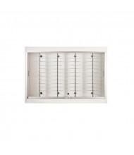 "Tecno OP113 Optical 48"" W Wall Shadow Box Wall Display Case 10"" D x 33"" H (in white)"
