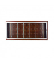 "Tecno OP114 Optical 72"" W Wall Shadow Box Wall Display Case 10"" D x 33"" H (in mahogany)"