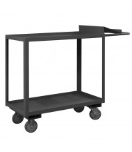 Durham Steel 2-Shelf 1200 lb Load Order Picking Carts With Writing Surface