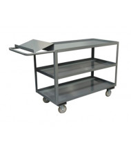 Durham Steel 1200 lb Load Order Picking Cart with Writing Surface
