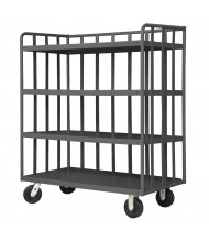 Durham Steel 2000 lb Load 3-Sided Open Portable Shelf Stock Trucks