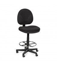 Eurotech OSS 400-DSK500 Fabric Drafting Stool (Shown in Black)