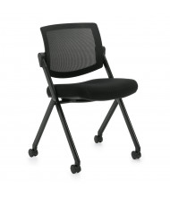 Offices to Go Armless Mesh Low-Back Nesting Folding Chair