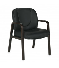 Offices to Go OTG11770B-ES Luxhide Low-Back Guest Office Chair, Espresso