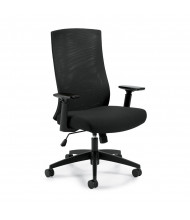 Offices to Go OTG11980B Mesh-Back Fabric High-Back Executive Office Chair