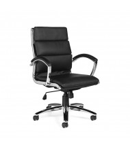 Offices to Go OTG11648B Segmented Cushion Luxhide High-Back Executive Office Chair