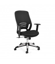 Offices to Go OTG10904B Mesh-Back Fabric Mid-Back Executive Office Chair