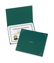 "Oxford 9-3/4"" x 12-1/2"" 5-Pack Certificate Holder, Green"