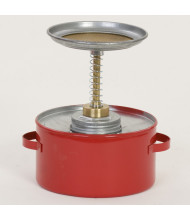Eagle Galvanized Steel 1 Quart Plunger Safety Can, Red