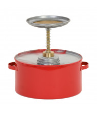 Eagle P-702 Metal 2 Quart Plunger Safety Can, Red