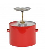 Eagle P-704 Metal 4 Quart Plunger Safety Can, Red