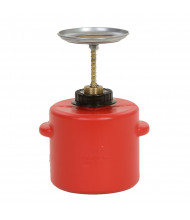 Eagle P-712 Polyethylene 2 Quart Plunger Safety Can, Red