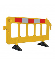 "Vestil 79"" L x 40"" H Reflective HDPE Plastic Barrier (in yellow)"