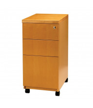 Mayline Luminary PBBFT19 3-Drawer Box/Box/File Mobile Pedestal Cabinet (Shown in Maple)