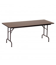 "Correll 72"" W x 18"" D x 29"" H High-Pressure Top Plywood Folding Table (Shown in Walnut)"