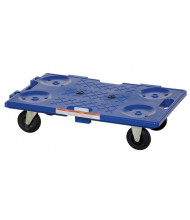 "Vestil PCS-1626 Interlocking 300 lb. 16"" x 26"" Plastic Dolly"