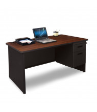 """Marvel Pronto PDR4830SP 48"""" W Straight Front Pedestal Office Desk (Shown In Mahogany Top/Black Base)"""