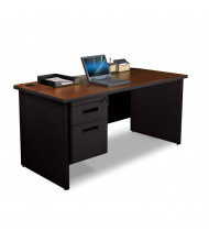 """Marvel Pronto PDR6030SP 60"""" W Straight Front Pedestal Office Desk (Shown In Mahogany Top/Black Base)"""