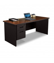 """Marvel Pronto PDR7230SP 72"""" W Straight Front Pedestal Office Desk (Shown In Mahogany Top/Black Base)"""