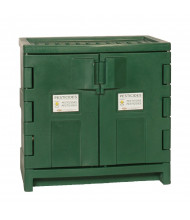 Eagle PEST-P22 Poly Two Door Pesticides Safety Cabinet, 22 Gallons, Green