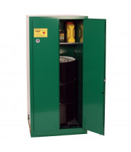 Eagle PEST26 Manual Two Door Vertical Drum Pesticides Safety Cabinet with Rollers, 55 Gallons, Green (Example of Use)