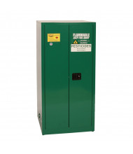 Eagle PEST2610 Self Close Two Door Vertical Drum Pesticides Safety Cabinet with Rollers, 55 Gallons, Green