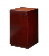 "Mayline Luminary PFF22 2-Drawer Box/Box Pedestal Cabinet for 30"" Desk (Shown in Cherry)"
