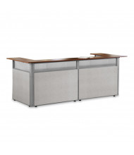 "OFM RiZe PG296-2 96"" W x 37"" D U-Shaped Vinyl Panel Reception Station (Shown in Beige with Cherry top)"