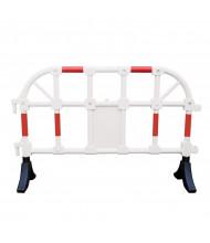 "Vestil 64"" L x 40"" H Reflective HDPE Plastic Handrail Barrier, White PHR-W"