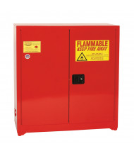 Eagle PI-30 Sliding Self Close Two Door Combustibles Safety Cabinet, 40 Gallons, Red