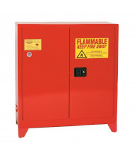 Eagle PI-32LEGS Manual Two Door Combustibles Tower Safety Cabinet with Legs, 40 Gallons, Red