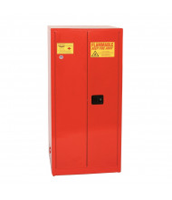Eagle PI-6010 Self Close Two Door Combustibles Safety Cabinet, 96 Gallons, Red