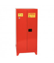 Eagle PI-62LEGS Manual Two Door Combustibles Tower Safety Cabinet with Legs, 96 Gallons, Red
