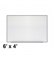 Ghent PLM3-46-0 Phantom Line 6 ft. x 4 ft. Magnetic Grid Pattern Whiteboard
