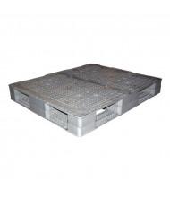 "Vestil 48"" W x 40"" L 4400 lb Capacity Plastic Pallet, Grey"