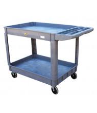 Vestil Plastic Utility Service Carts 550 lb Load (2 shelves)