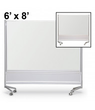 Best-Rite Evolution Projection Surface 6 x 8 D.O.C. Mobile Divider Reversible (Both Sides Shown)