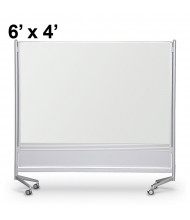Best-Rite Porcelain Steel 6 x 4 D.O.C. Mobile Divider Reversible