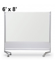 Best-Rite Porcelain Steel 6 x 8 D.O.C. Mobile Divider Reversible