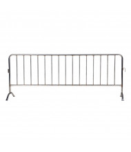 "Vestil 102"" L x 40"" H Light-Weight Curved Feet Stainless Steel Interlocking Barrier PRAIL-102-SS"