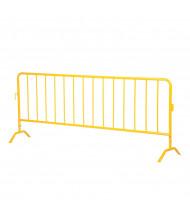 """Vestil 102"""" L x 40"""" H Light-Weight Crowd Control Yellow Interlocking Barrier (PRAIL-102-Y)"""