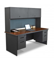 Marvel Pronto PRNT5 Office Desk Set (Shown In Mahogany Top / Dark Neutral Base)